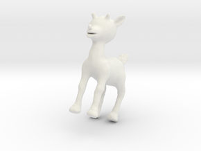 Rudolph the Red-Nosed Reindeer in White Natural Versatile Plastic