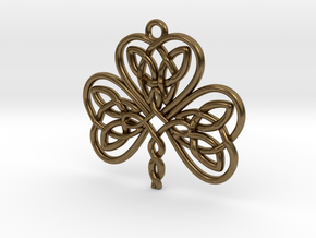 Shamrock Knot Pendant 1.25 Inch in Natural Bronze