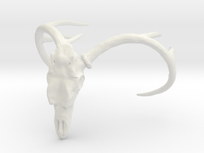White Tailed Deer in White Natural Versatile Plastic