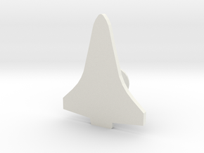 Space Shuttle Orbiter Cuff Link - Left in White Natural Versatile Plastic