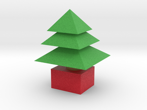 3d  Xmas Tree Small in Full Color Sandstone