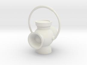 "2"" Power Battery Lantern in White Natural Versatile Plastic"