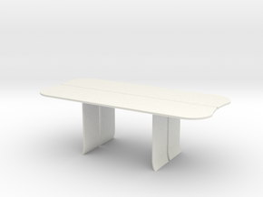 AV Table in White Natural Versatile Plastic