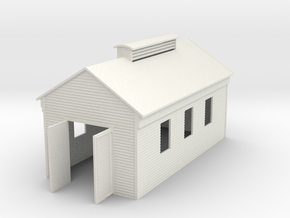 Engine Shed Single Stall 1:120 in White Natural Versatile Plastic