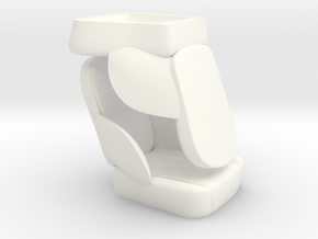 1/8 50s Sport Seat Pair in White Strong & Flexible Polished
