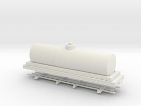 HOn30 28ft tank car 6' diameter  in White Strong & Flexible
