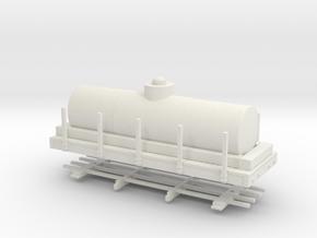"HOn30 20 ft tank car 4'8"" diameter in White Natural Versatile Plastic"
