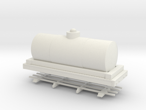 HOn30 20ft tank car 6' diameter in White Natural Versatile Plastic