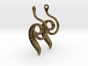 Seed Earrings in Natural Bronze