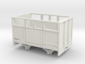 O9/On18 Sheep wagon (kadee)  in White Strong & Flexible