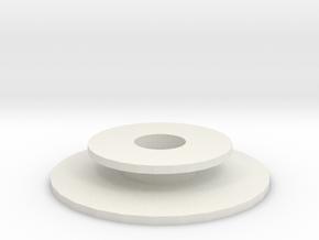 Rubber O in White Natural Versatile Plastic