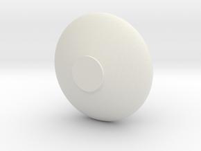 FLAT JAR in White Natural Versatile Plastic