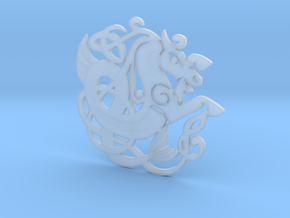 Celtic Coaster in Smooth Fine Detail Plastic