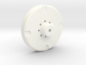 Eye Core Mold Plate in White Processed Versatile Plastic