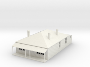 Older  House 1:120 in White Natural Versatile Plastic