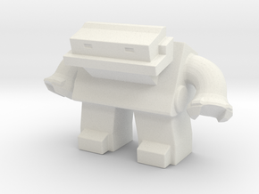 Robot 0036 Jaw Bot v1 in White Natural Versatile Plastic