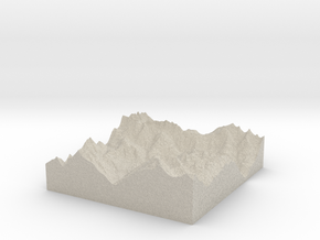Model of Sankt Anton am Arlberg in Sandstone