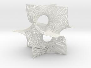 Pseudo-batwing cubelet in White Natural Versatile Plastic