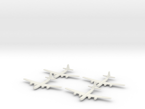 B-29-Superfortress-X4 Global War Scale in White Natural Versatile Plastic