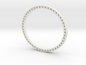 Wire weave bangle large version in White Natural Versatile Plastic