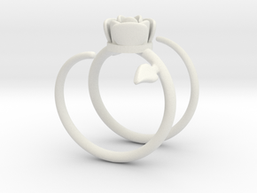 Rose ring 2 in White Strong & Flexible