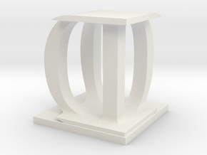 Two way letter / initial D&D in White Natural Versatile Plastic