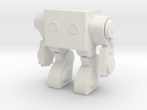 Robot 00409 Mech Robot in White Natural Versatile Plastic