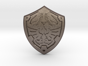 Royal Shield II in Polished Bronzed Silver Steel