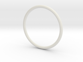 Simplicity Bangle in White Natural Versatile Plastic