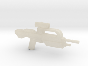 Battle Rifle 50 Model in White Acrylic