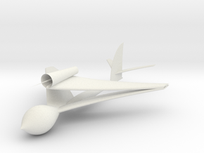 WhitcombWaspBiplaneJet in White Natural Versatile Plastic