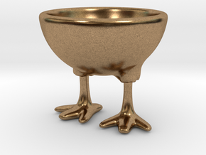 Feet Egg Cup in Natural Brass