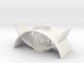 Orchid Planter II in White Natural Versatile Plastic