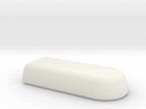WAX3 Case Lower Half in White Natural Versatile Plastic