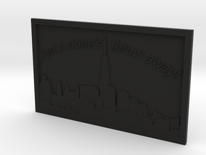 NYC Skyline in Black Natural Versatile Plastic