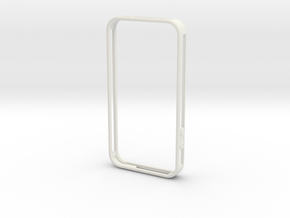 iphone4 bumper MG03 in White Strong & Flexible