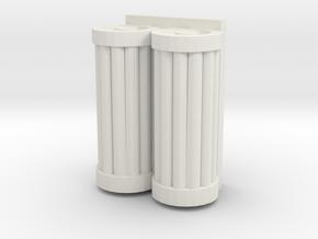 Battery back for turret in White Natural Versatile Plastic