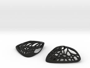 Butterfly Earrings (S)  in Black Natural Versatile Plastic
