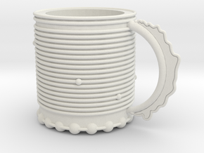 Cup of Awesome in White Natural Versatile Plastic