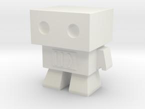 Robot 0045 Basic Robot Fast Forward Bot in White Natural Versatile Plastic