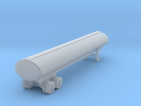 40 foot Tank Trailer - Z scale in Smooth Fine Detail Plastic