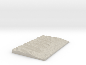 Model of Mill Point in Natural Sandstone