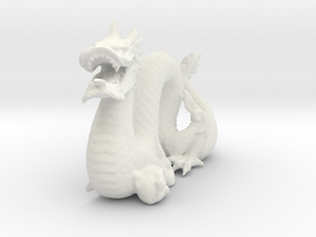 Stanford Dragon in White Natural Versatile Plastic
