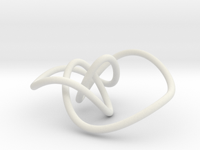 Mathematical knot, thin in White Strong & Flexible