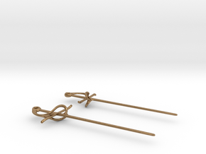 Rapier Earrings (17th c. Sword) in Natural Brass