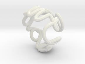 Swirl (26) in White Natural Versatile Plastic