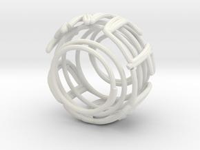 Swirl (31) in White Natural Versatile Plastic