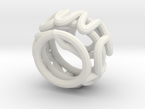 Swirl (28) in White Natural Versatile Plastic