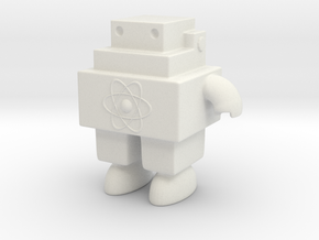 Robot 0051 Jaw Bot Turbine v2 With bolts and Atom in White Natural Versatile Plastic