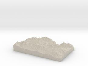 Model of Colchuck Lake in Natural Sandstone